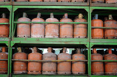 Cylindres de gaz Photos stock