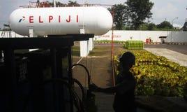 CYLINDRES DE GAZ DE LPG Photographie stock libre de droits