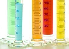 Cylindres de laboratoire Image stock