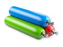 Cylindres de propane avec le gaz comprimé Photographie stock libre de droits