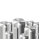 Cylindres en métal sur le blanc Photo libre de droits
