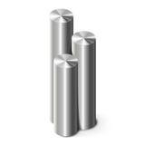 Cylindres en métal sur le blanc Photographie stock libre de droits