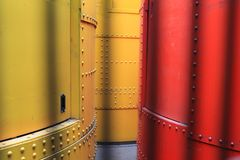 Cylindres hydrauliques à Tour Eiffel à Paris, France Photos stock