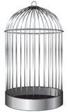 Cylindrical cage for birds Royalty Free Stock Images