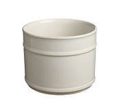 Cylindrical flower pot Royalty Free Stock Image