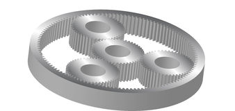 Cylindrical gear Stock Photo