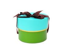 Cylindrical gift box isolated on white background Stock Image