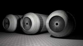 The of the cylindrical mechanism Stock Images