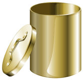 A cylindrical pan. Illustration of a cylindrical pan on a white background Stock Image
