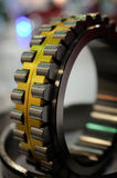 Cylindrical roller bearing. A cylindrical roller bearing with outer ring removed Royalty Free Stock Photography