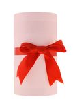 Cylindrical shape gift box Royalty Free Stock Photo