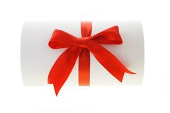 Cylindrical shape gift box Stock Photo