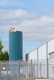 Cylindrical storage tank on industrial estate Stock Photos