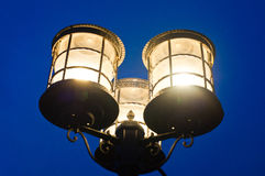 Cylindrical street lamp Stock Photos