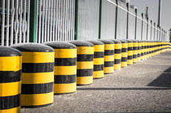 Cylindrical traffic cones Royalty Free Stock Images