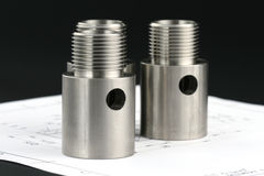 Cylindrical workpiece Royalty Free Stock Photos