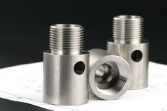 Cylindrical workpiece Stock Photo