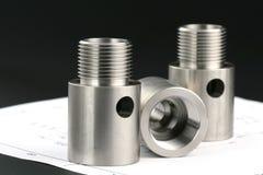 Cylindrical workpiece Stock Photo