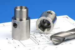Cylindrical workpiece Stock Photography