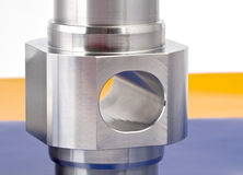 Cylindrical workpiece Royalty Free Stock Photo