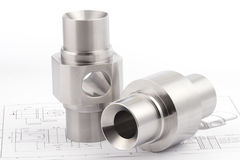 Cylindrical workpieces Stock Photography