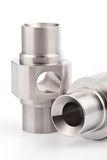 Cylindrical workpieces Stock Photo
