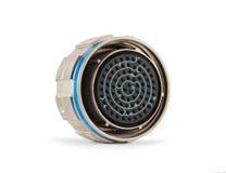 Cylindriskt elektriskt kontaktdon Royaltyfria Foton