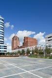 Cylindriskt format hyreshuscentrum, Haag, Nederländerna royaltyfri foto