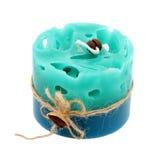 cylindriskt handgjort för stearinljus Royaltyfria Bilder