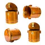Cylindriskt isolerat trä royaltyfri foto