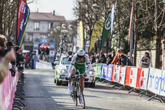 The Cylist Siskevicius Evaldas- Paris Nice 2013 Prologue in Houi Royalty Free Stock Photo