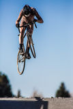 Cylocross Jumper Royalty Free Stock Image