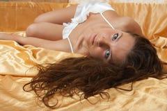 cymar flickawhite för skönhet Arkivbild