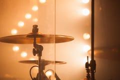 Cymbałki jako część rockowy bębenu set Zdjęcie Royalty Free