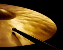 Cymbal and Drumstick Royalty Free Stock Images