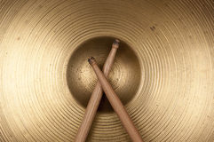 Cymbal and drumstick Stock Image