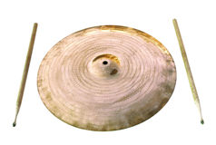 Cymbal and drumsticks Stock Photography
