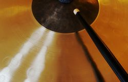 Cymbal with lightrays Stock Image