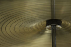 Cymbal på ställning Arkivfoto