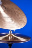 Cymbal Set Isolated On Blue Royalty Free Stock Photo