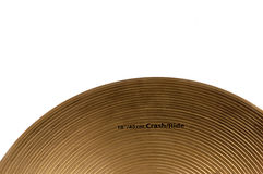 Cymbal white backgrounds Stock Photography