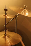 Cymbals. Drum cymbals on a drum session royalty free stock images