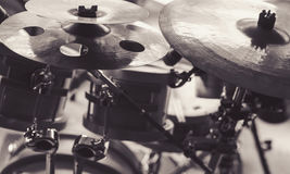 Cymbals of a Drum Set Stock Photography