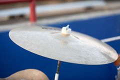 Large cymbol used in marching band royalty free stock images