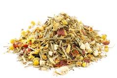 Cymbopogon e hibisco de la manzanilla del té herbario Imágenes de archivo libres de regalías