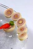 Cymbopogon y chiles en pedazos Fotografía de archivo
