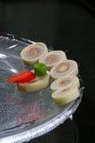 Cymbopogon y chiles en pedazos Imagen de archivo