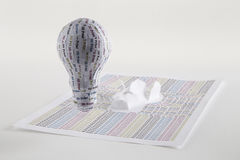 CYMK 3D Printing lightbulb Stock Image