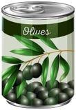 Cyna czarne oliwki ilustracji