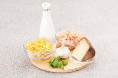 cynamonowa kulinarna mąkę składników jaja orzechów przyprawy waniliowe cukru Obraz Royalty Free